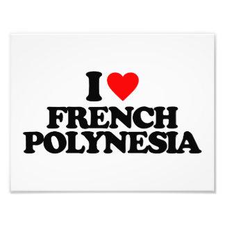 I LOVE FRENCH POLYNESIA PHOTO ART