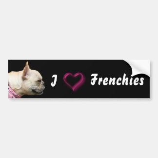 I Love Frenchies French bulldog bumper sticker