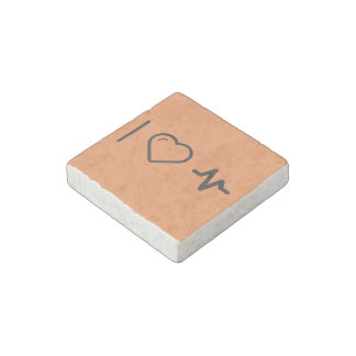 I Love Frequency Highs Stone Magnet