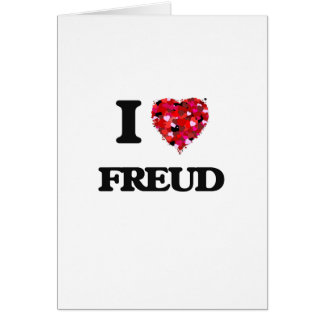 I Love Freud Greeting Card