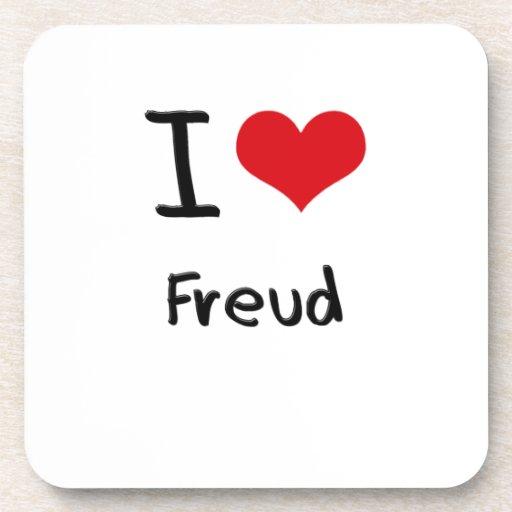 I Love Freud Drink Coasters