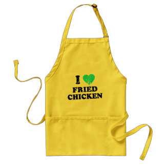 I Love Fried Chicken Aprons