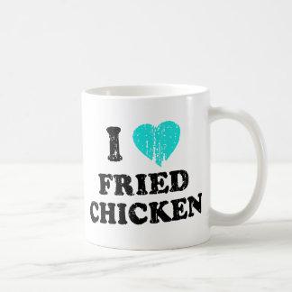 I Love Fried Chicken Classic White Coffee Mug