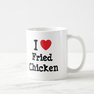 I love Fried Chicken heart T-Shirt Mug