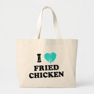 I Love Fried Chicken Jumbo Tote Bag