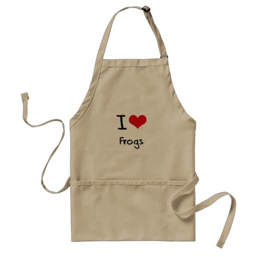 I Love Frogs Apron