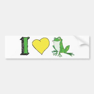 I Love Frogs Bumper Sticker