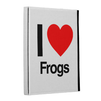 i love frogs iPad folio cover