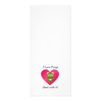 I love frogs deal with it full color rack card