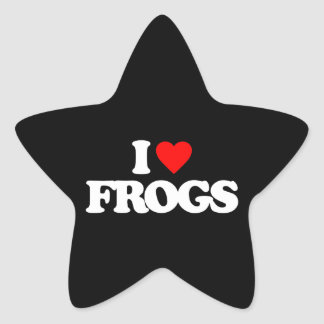 I LOVE FROGS STAR STICKERS