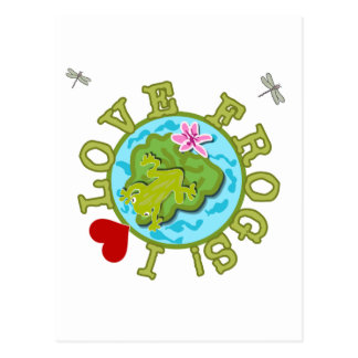 I Love Frogs Tshirts and Gifts Postcard