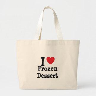 I love Frozen Dessert heart T-Shirt Bags