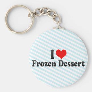 I Love Frozen Dessert Key Chain