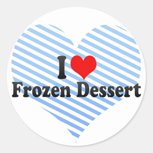 I Love Frozen Dessert Sticker