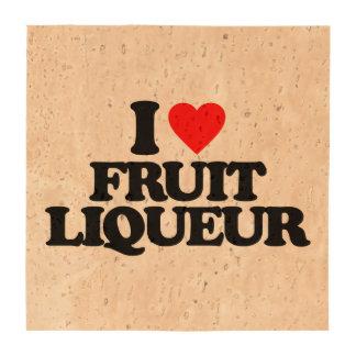 I LOVE FRUIT LIQUEUR BEVERAGE COASTER