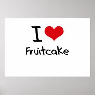 I Love Fruitcake Print