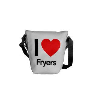 i love fryers messenger bags