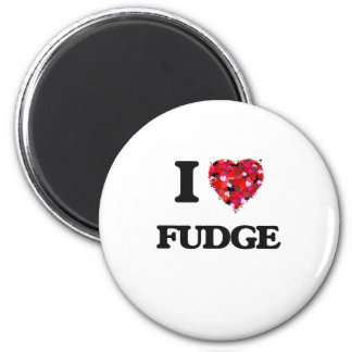 I Love Fudge 6 Cm Round Magnet