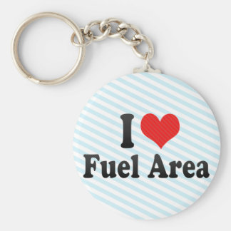 I Love Fuel Area Keychains