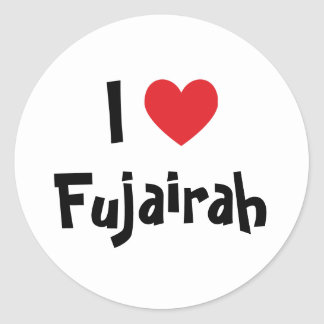 I Love Fujairah Classic Round Sticker