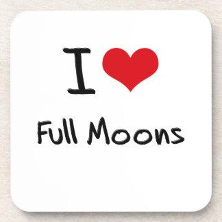 I Love Full Moons Drink Coaster