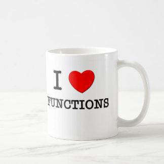 I Love Functions Coffee Mugs
