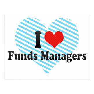 I Love Funds Managers Postcard