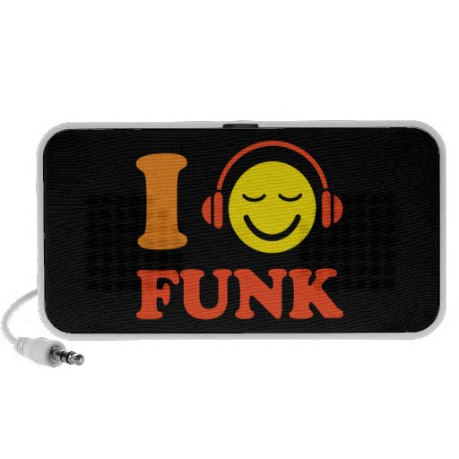 I love funk music smiley with headphones speakers