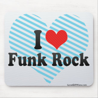 I Love Funk Rock Mouse Pads