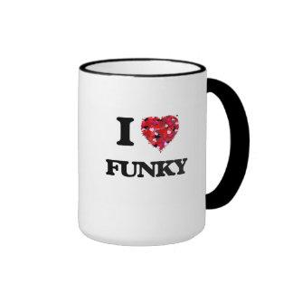 I Love Funky Ringer Mug