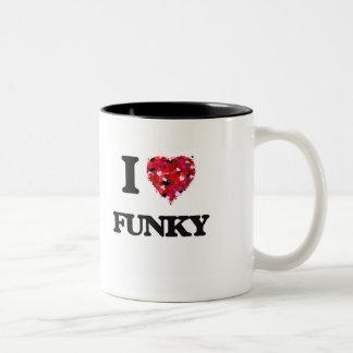 I Love Funky Two-Tone Mug