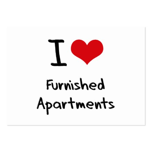 I Love Furnished Apartments Business Card