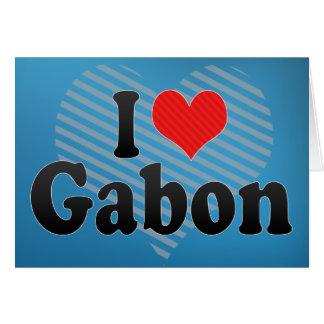 I Love Gabon Card