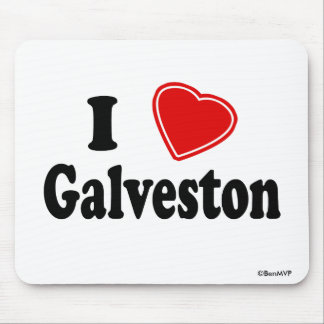 I Love Galveston Mouse Pad