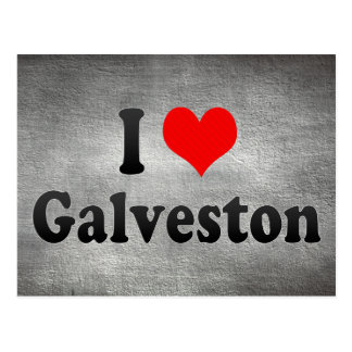 I Love Galveston, United States Postcard