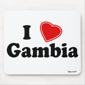 I Love Gambia Mouse Pad