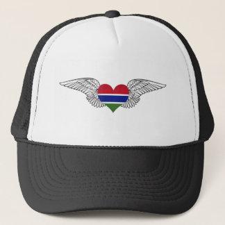I Love Gambia -wings Trucker Hat