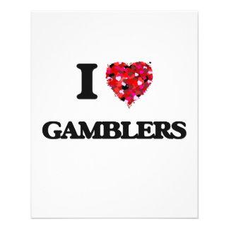 I Love Gamblers 11.5 Cm X 14 Cm Flyer