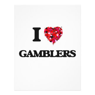 I Love Gamblers 21.5 Cm X 28 Cm Flyer