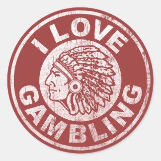 I Love Gambling Classic Round Sticker