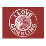 I Love Gambling Postcard