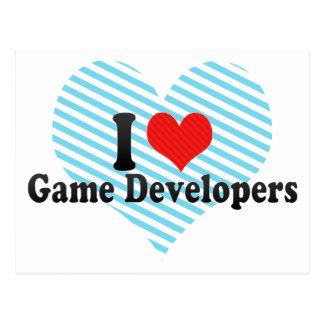 I Love Game Developers Postcard
