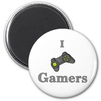 I Love Gamers 6 Cm Round Magnet