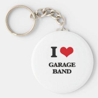 I Love Garage Band Key Ring