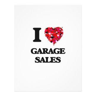 I Love Garage Sales 21.5 Cm X 28 Cm Flyer