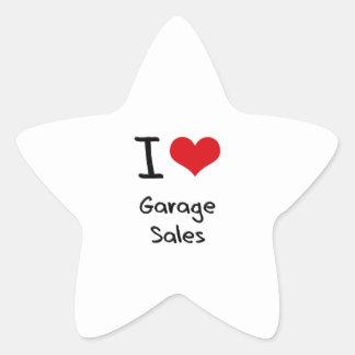 I Love Garage Sales Star Sticker