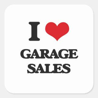 I love Garage Sales Square Stickers
