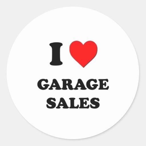 I Love Garage Sales Round Stickers