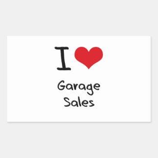 I Love Garage Sales Rectangular Sticker