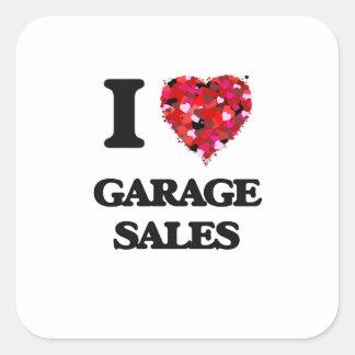 I Love Garage Sales Square Sticker
